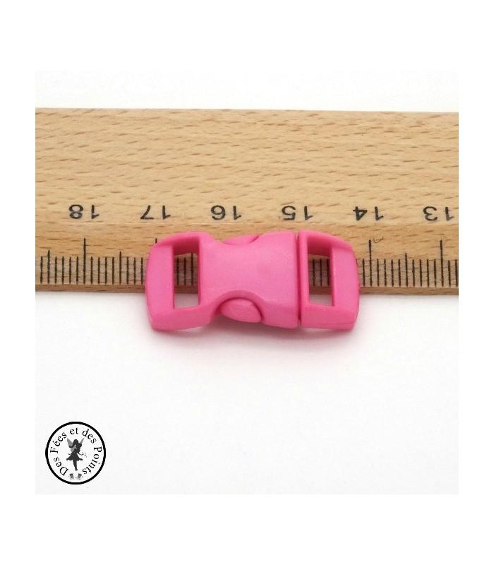 Boucle à clips - Sangle de 10 mm - Rose