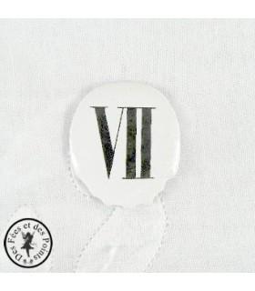 Chiffres d'horloge - Plaque Ovale VII