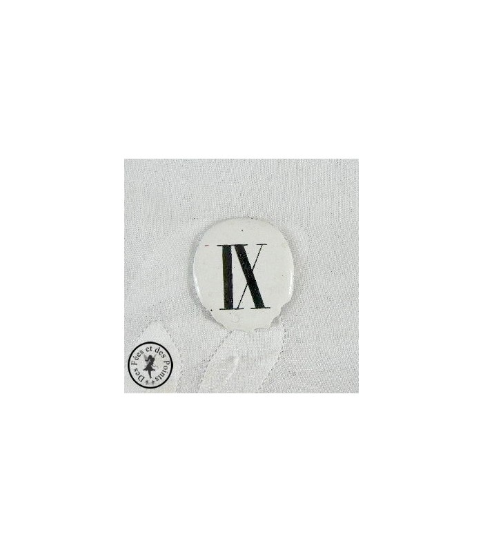 Chiffres d'horloge - Plaque Ovale IX
