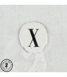 Chiffres d'horloge - Plaque Ovale X
