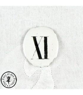 Chiffres d'horloge - Plaque Ovale XI