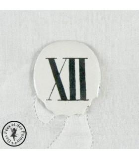 Chiffres d'horloge - Plaque Ovale XII