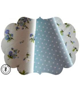 """Coupons """"Fleurs tendres"""" - Coton - 45 x 45 cm"""