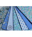"""Coupons """"Jardin bleu"""" - Coton - 45 x 50 cm"""