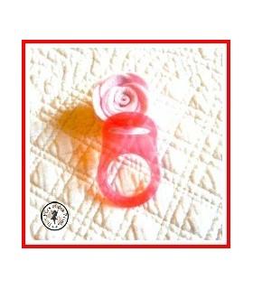 Anneau pour tétine / lolette à bouton Nuk Rouge