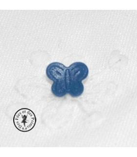 Pressions en résine KAM - Papillon - Bleu tardis