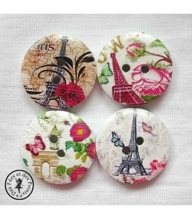 Bouton en bois - Paris 01