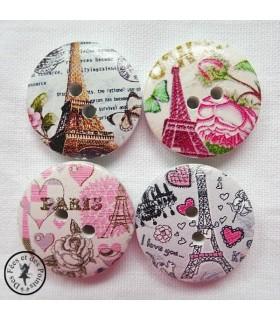Boutons en bois - Paris 06