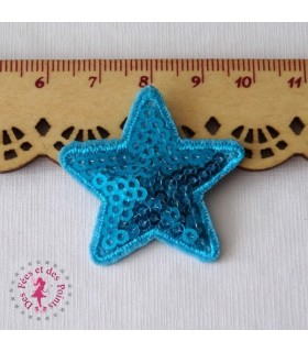 Etoile mini - Sequins turquoises