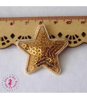 Etoile mini - Sequins dorés