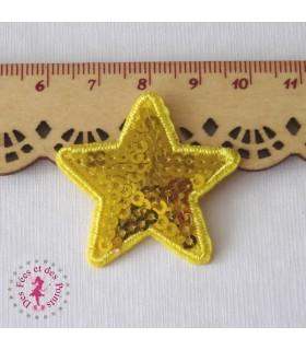 Etoile mini - Sequins jaunes