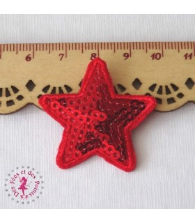 Etoile mini - Sequins rouges
