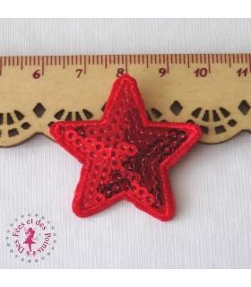 Etoile mini - Sequins rouges