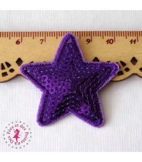 Etoile petite - Sequins violets