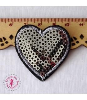 Coeur mini - Sequin argentés