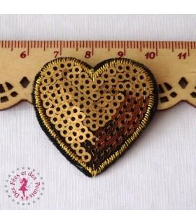 Coeur mini - Sequins dorés
