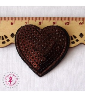 Coeur mini - Sequins chocolats