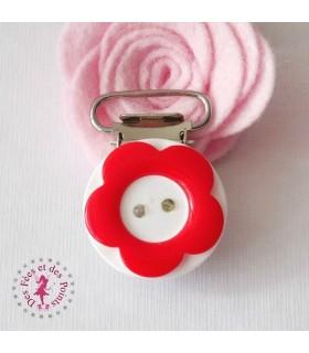 Pince résine - Fleur - Rouge
