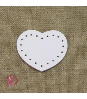 Bloqueurs fermeture éclair - Coeur blanc