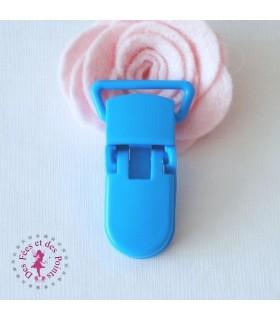 Pince attache tétine/lolette - KAM - Bleu - B8