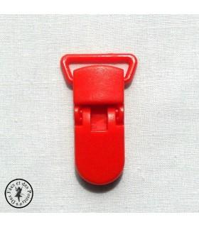 Pince attache tétine/lolette - KAM - Rouge Orangé- B1