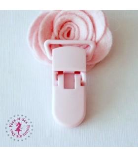 Pince attache tétine/lolette - KAM - Rose Bébé - B18
