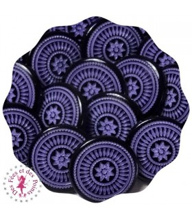 Pressions KAM - Rondes T5 Brillantes - Edelweiss Violet/Noir