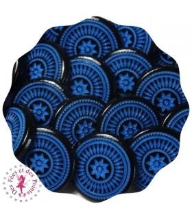 PPressions KAM - Rondes T5 Brillantes - Edelweiss Bleu/Noir