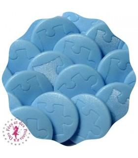 Pressions KAM - Rondes T5 Mat - Puzzle Bleu bébé D301
