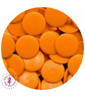 Pressions KAM - Rondes T5 mates - Mandarine - B40