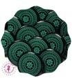 Pressions KAM - Rondes T5 Brillantes - Edelweiss Vert/Noir