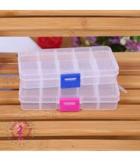 Boîte rectangulaire à compartiments
