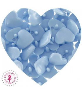 Pressions KAM - Coeur - Bleu Bébé - B20