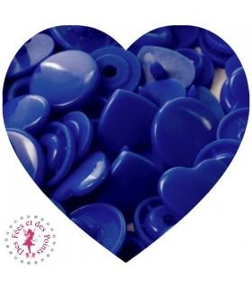 Pressions en résine KAM - Coeur - Bleu Roi