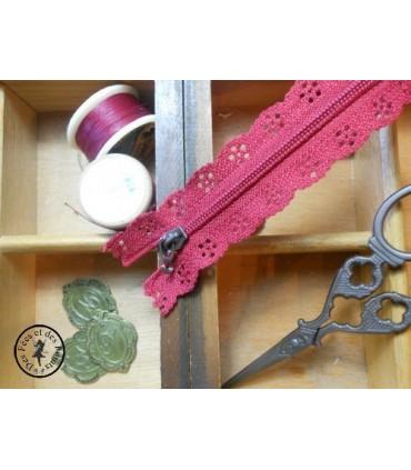 Fermetures éclairs dentelles avec crochet - 20 & 25 cm