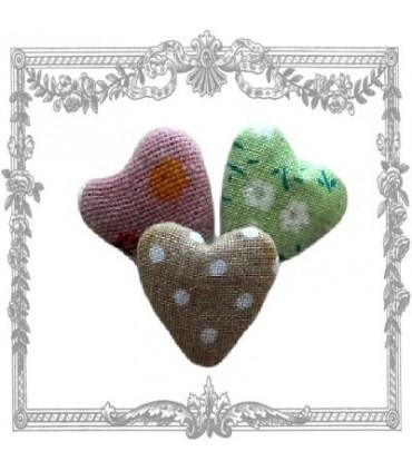 Coeurs en tissu